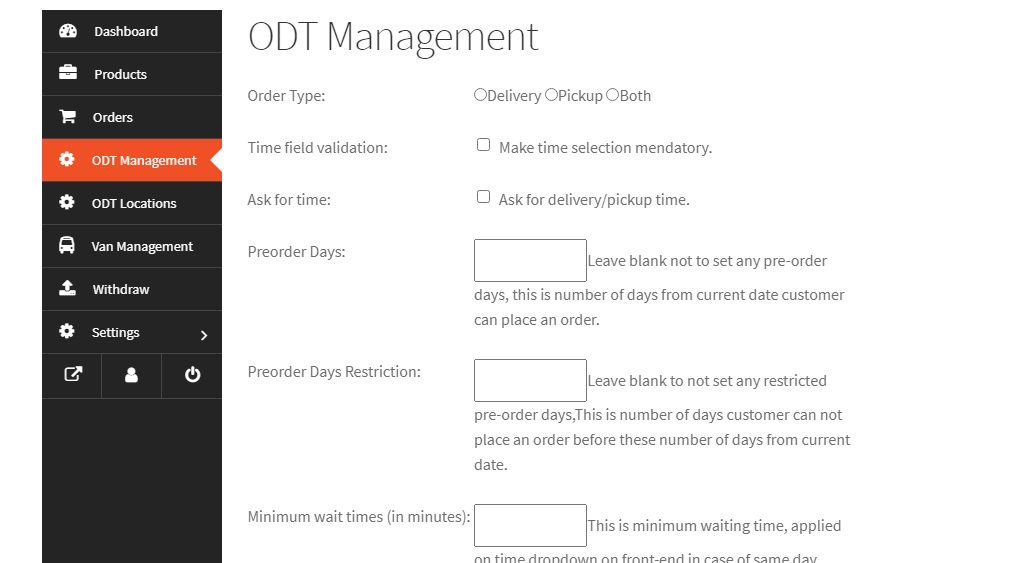 Dokan vendor specific pickup delivery lead time, per-order days settings